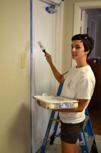 em painting with day of caring group